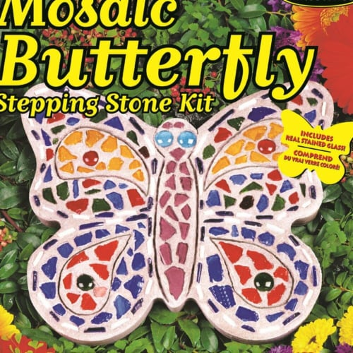 Mosaic Stepping Stone Kit - Butterfly Perspective: front