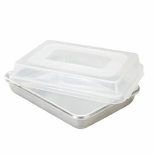 Rectangular Cake Pan with Storage Lid Perspective: front