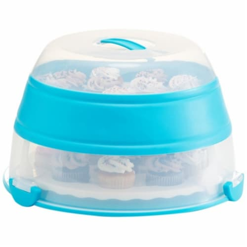 Collapsible Cupcake Carrier Perspective: front