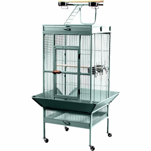 24 in. x 20 in. x 60 in. Wrought Iron Select Cage - Sage Perspective: front