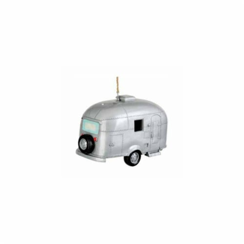 Silver Camper Birdhouse Perspective: front