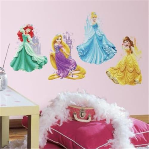 Disney Princesses And Castles Peel And Stick Giant Wall Decals Perspective: front