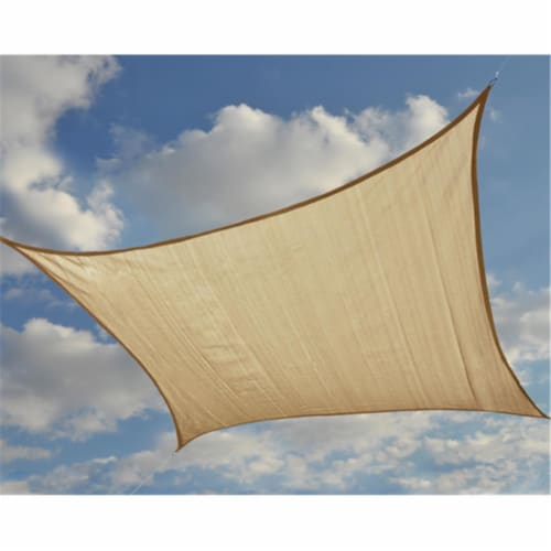 16 ft. - 4 9 m Square Shade Sail - Sand 160 gsm Perspective: front