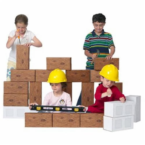 24 piece Giant ConstructionBlock Set Perspective: front
