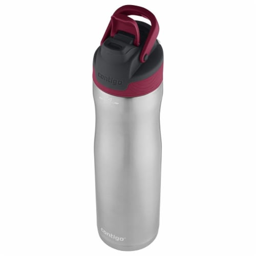 24oz, Stainless Steel Water Bottle Leak Spill Proof - Very Berry Perspective: front