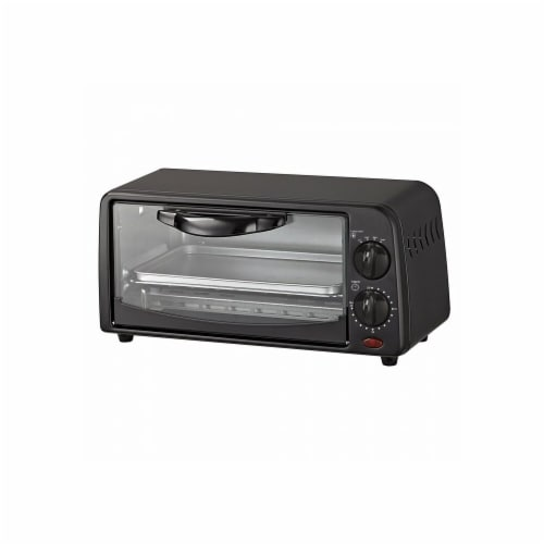 Compact Toaster Oven Black Perspective: front