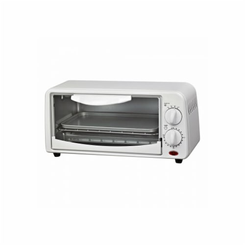 Compact Toaster Oven White Perspective: front