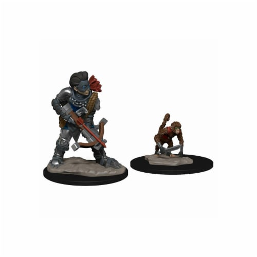 Boy Rogue & Monkey Miniatures Pre-Painted Minis Wardlings Perspective: front