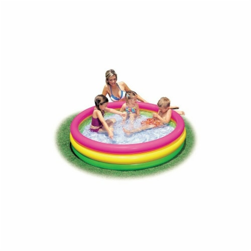 57422EP 54 x 12 in. 3-Ring Inflatable Pool Perspective: front