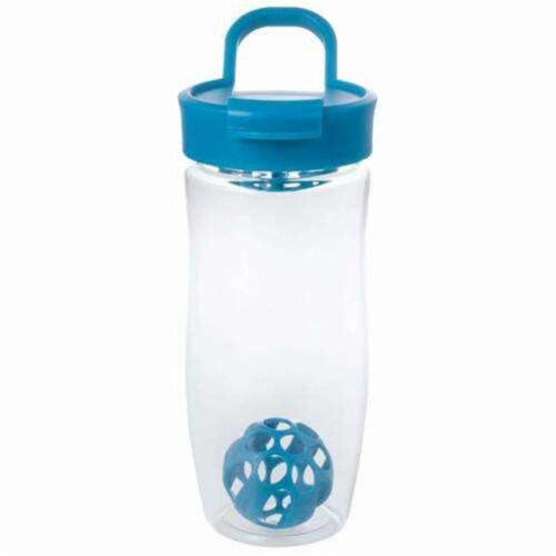 24 oz Shaker Bottle with Ball, Blue Perspective: front