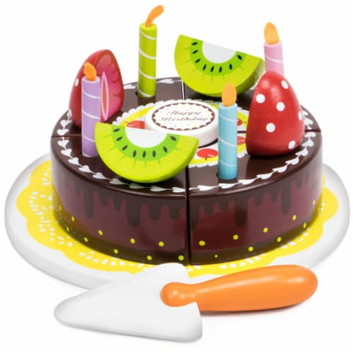 Happy Birthday Chocolate Party Cake Perspective: front