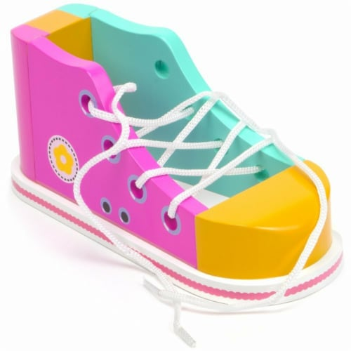 Cool Kicks Pink Lacing Shoe Perspective: front
