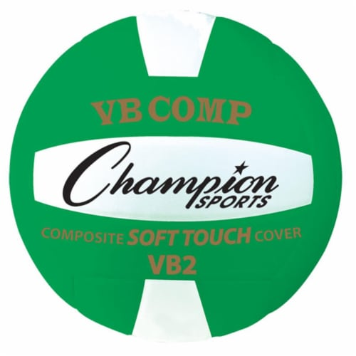 8.25 in. VB Pro Comp Series Volleyball, Green & White Perspective: front
