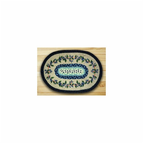 Oval Shaped Placemat, Blueberry Vine Perspective: front