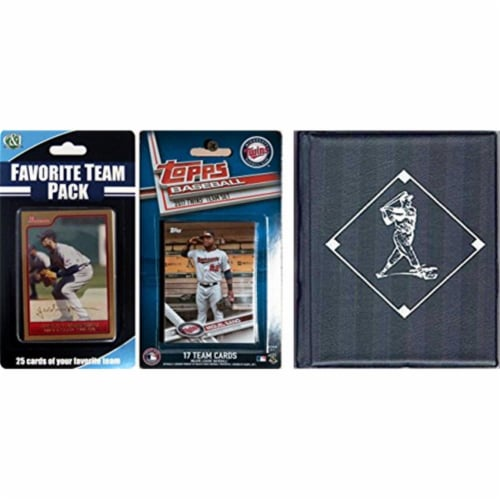 MLB Minnesota Twins Licensed 2017 Topps Team Set & Favorite Player Trading Cards Plus Storage Perspective: front