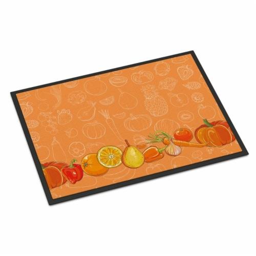 Fruits & Vegetables in Orange Indoor or Outdoor Mat, 24 x 36 in. Perspective: front