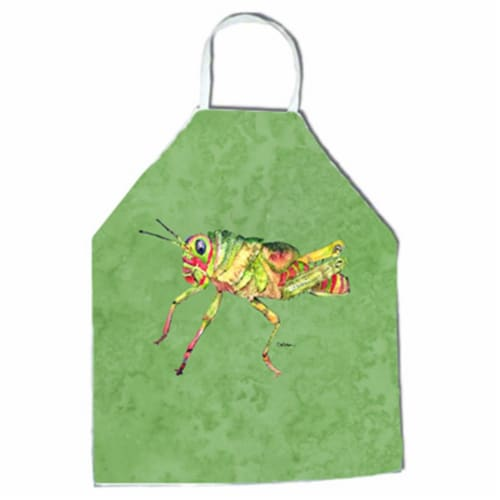 27 H x 31 W in. Grasshopper on Avacado Apron Perspective: front