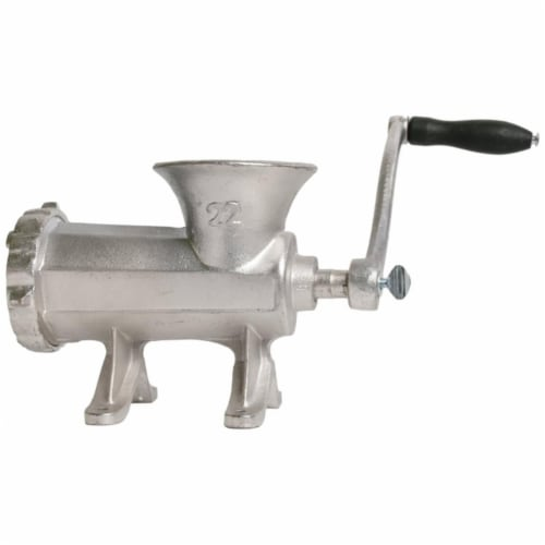 Tin Coated Cast Iron Hand Grinder Perspective: front