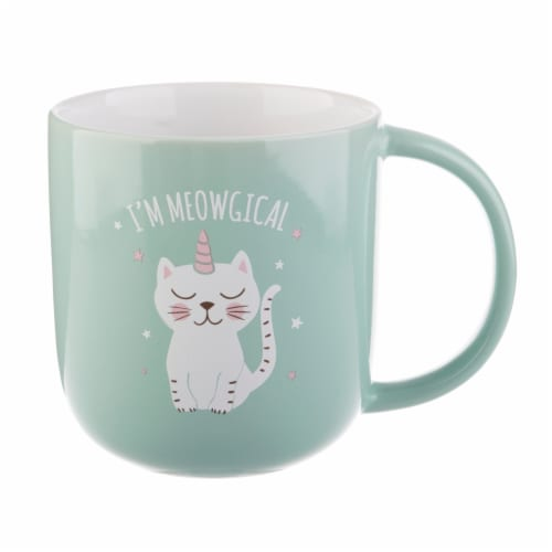 Pacific Market International Meowgical Barrel Mug Perspective: front