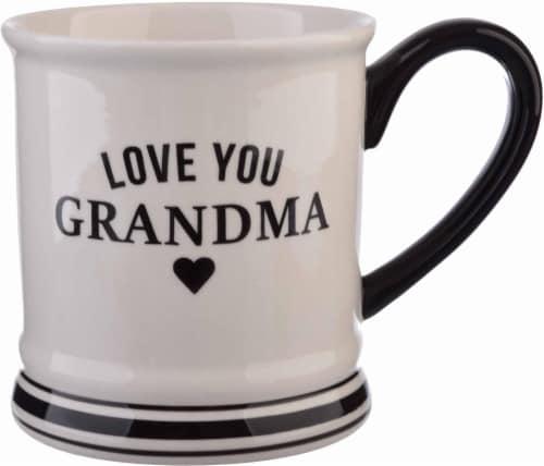 Pacific Market International Love You Grandma Barbershop Mug Perspective: front