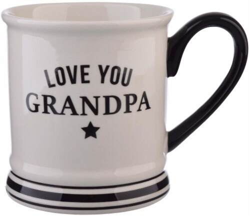 Pacific Market International Love You Grandpa Barbershop Mug Perspective: front