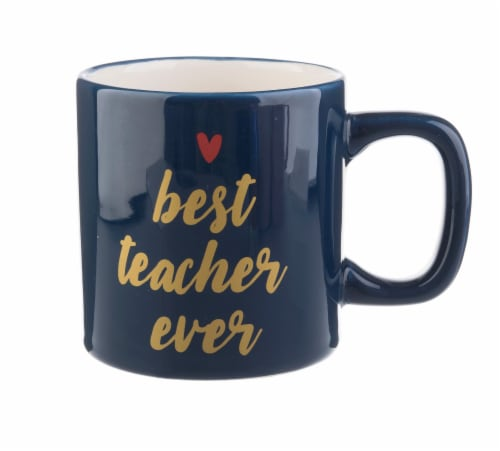 Pacific Market International Best Teacher Ever Ceramic Mug Perspective: front