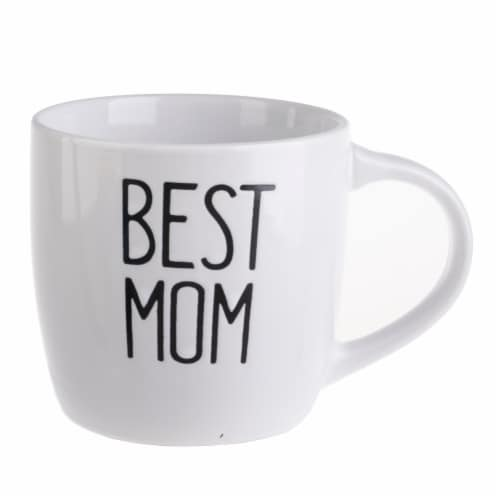 Pacific Market International Best Mom Mug - White Perspective: front
