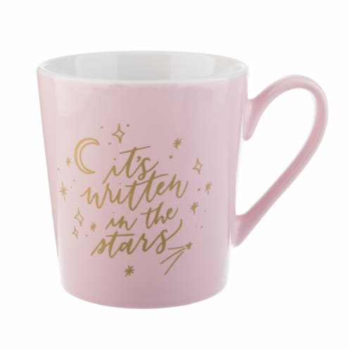 Pacific Market International Written in the Stars Flare Mug - Pink Perspective: front