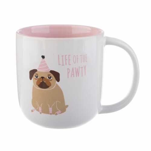Pacific Market International Life of the Pawty Barrel Mug Perspective: front