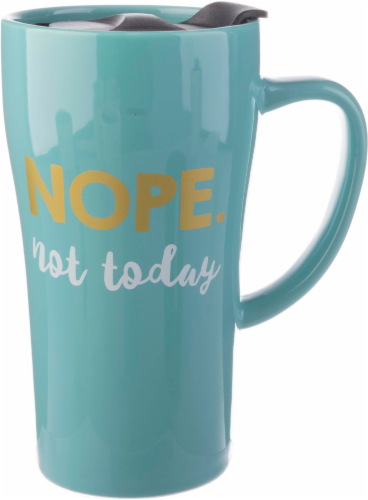 Formation Brands Nope Not Today Handled Travel Mug Perspective: front