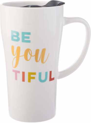 Formation Brands Be-You-Tiful Latte Travel Mug Perspective: front
