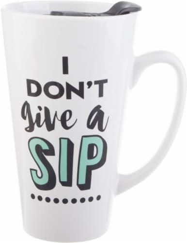 Formation Brands I Don't Give a Sip Latte Mug + Lid Perspective: front