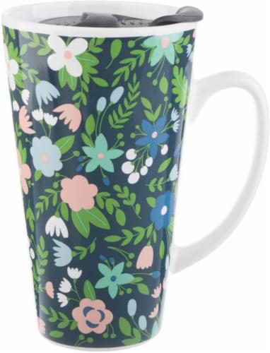 Formation Brands Floral Latte Mug + Lid Perspective: front