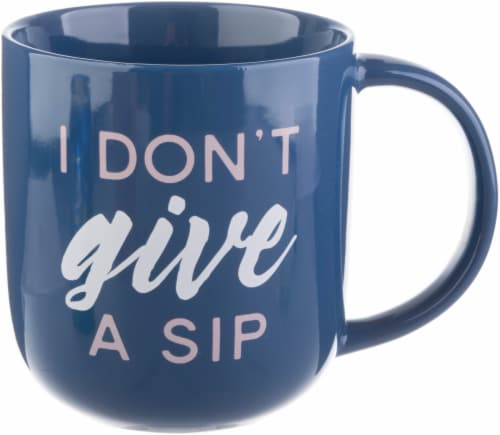 PMI Worldwide Matte I Don't Give a Sip Mug - Blue/Pink Perspective: front