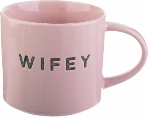 Pacific Market International Wifey Stacking Mug - Pink Perspective: front