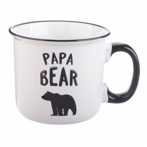 Pacific Market International Papa Bear Camper Mug Perspective: front