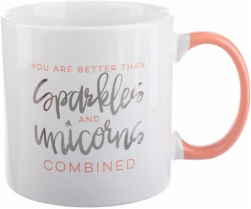 Pacific Market International Sparkles and Unicorns Mug Perspective: front