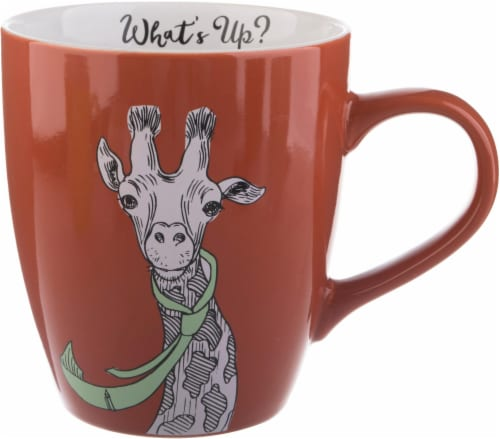 Pacific Market International What's Up Giraffe Jumbo Mug - Orange Perspective: front