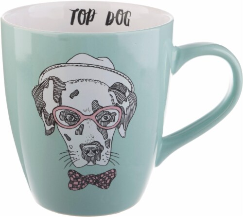 Pacific Market International Top Dog Jumbo Mug - Light Blue Perspective: front