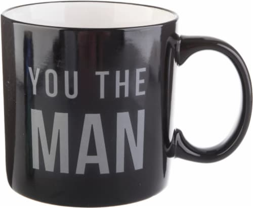 Pacific Market International You The Man Mug - Black Perspective: front