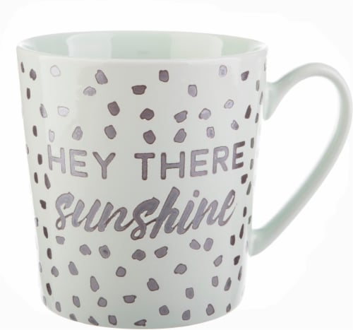 Pacific Market International Hey There Sunshine Short Barrel Mug Perspective: front