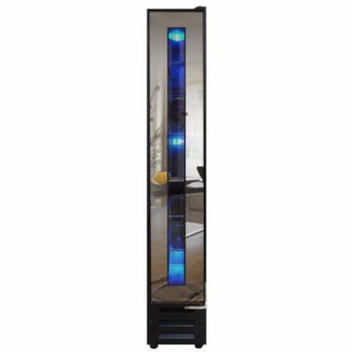 7-Bottle Mirrored Wine Cooler Perspective: front