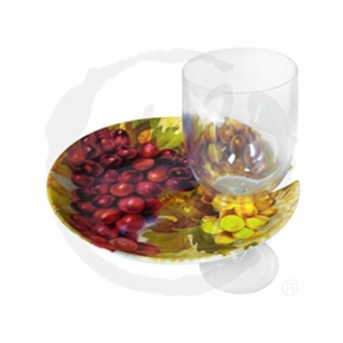 Vinotemp Epicureanist Cocktail Tray and Wine Glass Holder, Set of 4 Perspective: front
