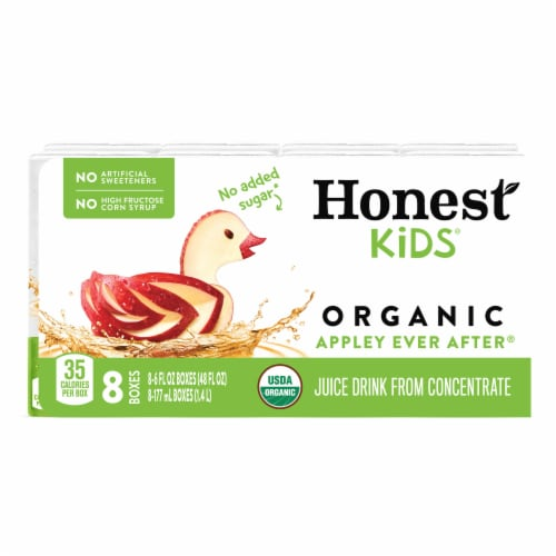 Honest Kids Organic Appley Ever After Juice Perspective: front