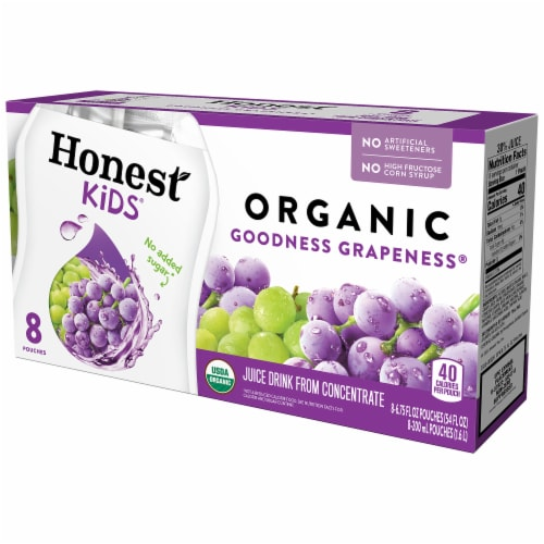 Honest Kids Organic Goodness Grapeness Juice Perspective: front