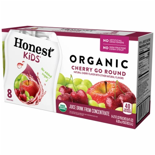 Honest Kids Organic Cherry Go Round Juice Perspective: front