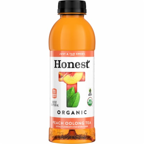 Honest Tea Organic Peach Oolong Tea Perspective: front