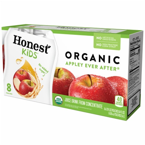 Honest Kids Organic Appley Ever After Juice Pouches Perspective: front