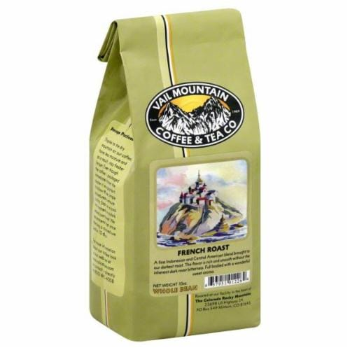 Vail Mountain French Roast Whole Bean Coffee Perspective: front