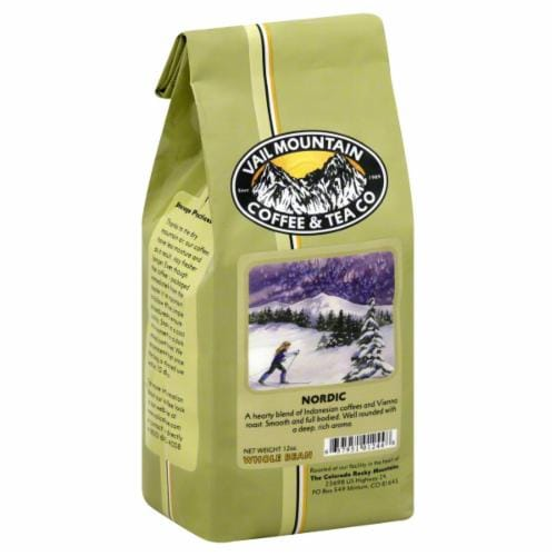 Vail Mountain Nordic Whole Bean Coffee Perspective: front